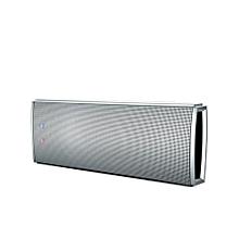 Slim Wireless Speaker with Passive Radiator with Mic - Silver