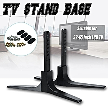 Universal TV Stand Base Plasma LCD Flat Screen Table Top Pedestal Mount 32-65""