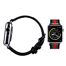 Canvas Watch Band Strap With Buckle Connector For Apple Watch 38mm BK