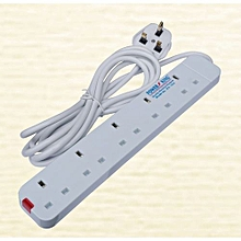 Extension cable - 5 way - White.