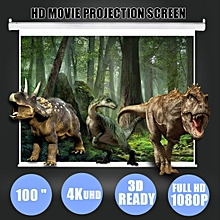 100 inch 16:9 White Portable Home Projector Screen Cinema Curtain HD TV Projection