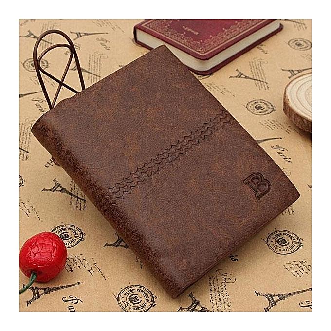 Buy Fashion Genuine Leather Mens Wallet Business Credit Card Holder