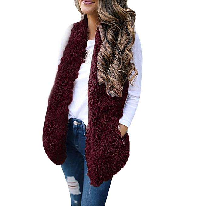 346783d44c461 Ladies Women Sexy Lady Faux Fur Solid Casual Sleeveless Warm Vest Waistcoat