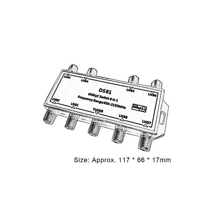 buy generic ds81 8 in 1 satellite signal diseqc switch lnb