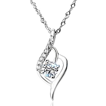 2017 White Water Drop CZ  Trendy 925 Sterling Silver Pendant
