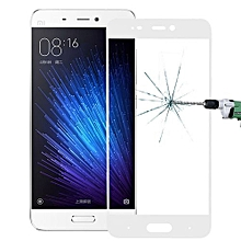 Xiaomi Mi 5 0.26mm 9H Surface Hardness Explosion-proof Silk-screen Tempered Glass Full Screen Film(White)