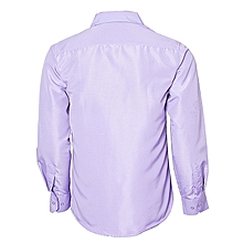 Purple & Off White - 2 Pack Slim Fit Formal Dress Shirt Long Sleeve Official Button Down