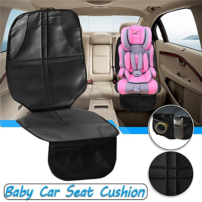 Universal Baby Child Car Seat Saver Anti Slip Safety Cushion Cover Black
