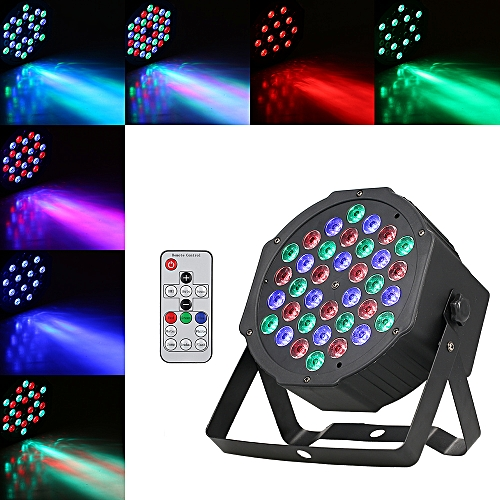 36 74 Plastic Light Bar Activated Channels Led Par Lamp Ligting Dmx512 Run Rgb Support Flat Remote Fixture Control Sound Auto For Club Mini Stage SMqVUzpG