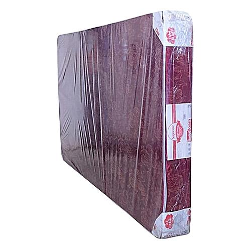 Heavy Duty Plain Foam Mattress - Maroon