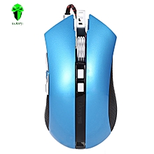 LUOM G60 Wired Nine Buttons Gaming Mouse Game Peripherals with LED for PC Laptop Computer AZURE