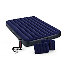 68765 Queen Classic Downy Airbed With Hand Pump