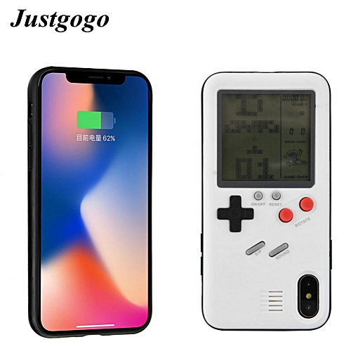 the best attitude fc6c4 f05a4 Tetris Game Console Protective TPU Phone Case Back Cover Shell For IPhone X  White