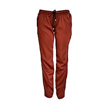 Copper Satin Jogger Pants