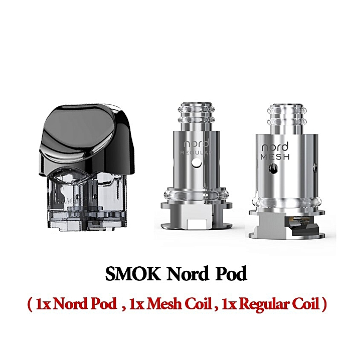 SMOK Nord Pod Vape 1100mah Battery 3ML Pod system Regular Mesh Coil  Electronic Cigarette KIT Vaporizer VS SMOK NOVO Minifit KIT