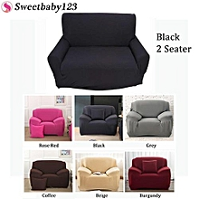 Home Sofa Covers Elastic Protector For 2 Seater Black