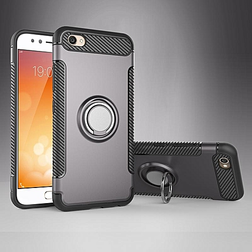 separation shoes 610ce deded New Arrival For VIVO V5Plus TPU+PC 2in1 Ring Holder Phone Case/Amor Rugged  Shockproof Built-in Stand Vehicle-mounted Adsorb Case Cover For VIVO 5+