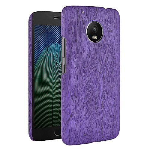 promo code f7544 14d1d Moto G5 Plus Case, [wood Texture] PU Leather + Hard PC Protective Case  Cover for Motorola Moto G5 Plus