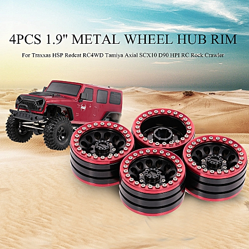 4pcs 1 9 Inch Wheel Hub Rim Metal for Traxxas HSP Redcat RC4WD Tamiya Axial  SCX10 D90 HPI RC Rock Crawler