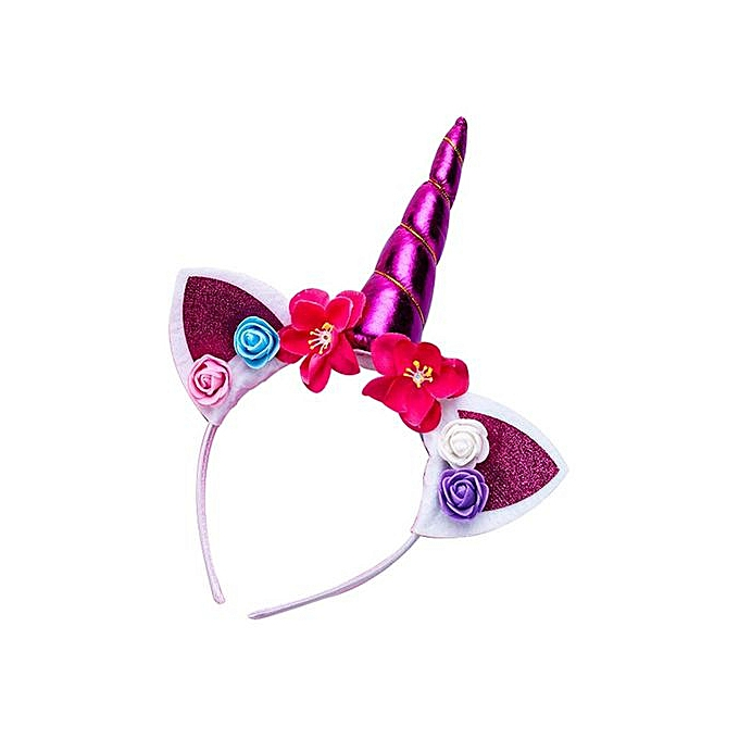 Girls Dream Cat Ear Flower Cartoon Horse Party Hair Hoop Birthday Party  Kids Hairbands Kawaii Headband Headwear Hair Accessories