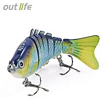 Outlife 7-segement Swimbait Crankbait Fishing Artificial Bait-MULTI