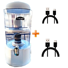 Water Purifier - 20 Litres - White, Get Two Free Android Cables