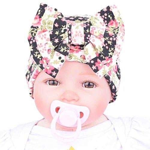 567c3b8203c Eissely Newborn Hospital Hat Newborn Baby Hats With Flower Bowknot Flower  Hat