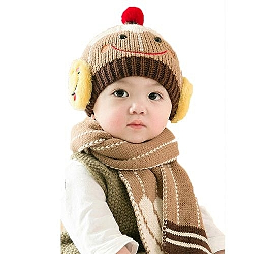 4491d58975606 Eissely Baby Cute Winter Kids Baby Hats Keep Warm Set Cute Hat Scarf. By  Eissely