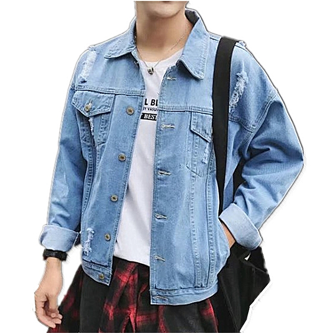 Fashion 2018 Autumn And Winter New Men S Jacket Worn Out Retro Teen