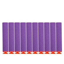 100pcs 10 Colors Toy Gun Soft Refill Bullets Darts EVA Foam (Purple)