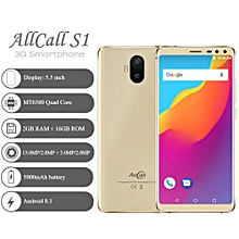 "AllCall S1 3G 5.5"" 2GB RAM + 16GB ROM Android 8.1 5000mAh battery - Gold"