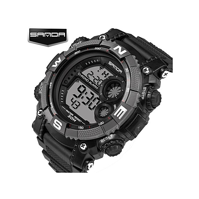 0b8b010d630 ... New Luxury Brand Sanda Men s Watches LED Digital Watch Men Waterproof  Shock Resist Outdoor Sports Wristwatches