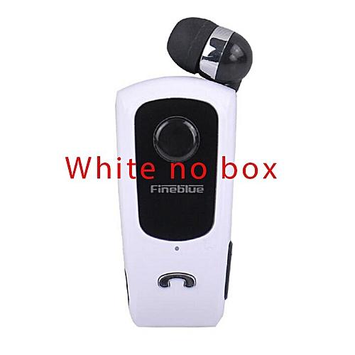 634ba584db9 Fineblue FineBlue F920 Retractable Wireless Bluetooth Earphones Handsfree  Headset Stereo Headphone Clip Mic Phone Call Portable(#White no box)