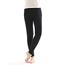 Girls Black Basic Full Length Leggings