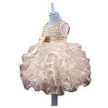 Newborn Baby Bead Ruched Bowknot Sleeveless Tutu Princess Dress Outfits Clothes