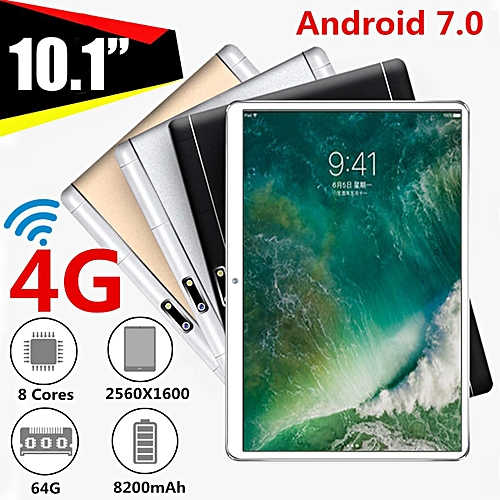10.1'' 4G+64GB Android 7.0 Tablet PC Octa 8 Core HD WIFI Bluetooth 2 SIM 4G New