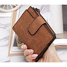 Women Short Wallet Fashion Women Small Wallets Female Purse Clutch Bags Tote Bag Carteiras Femininas Credit Card Holder Brown