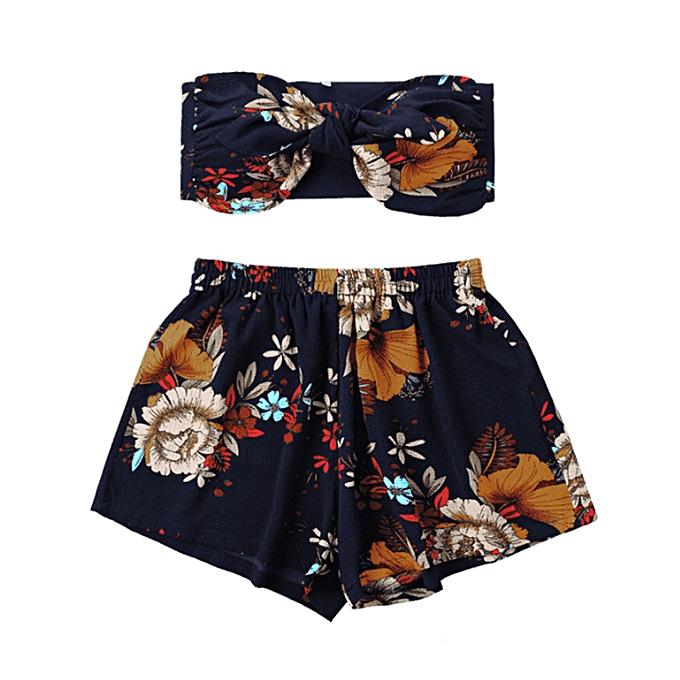 1d97ea7dd 2PCS Fashion Womens Sexy Printed Tank Top Vest + Shorts Floral Print Pants  Set