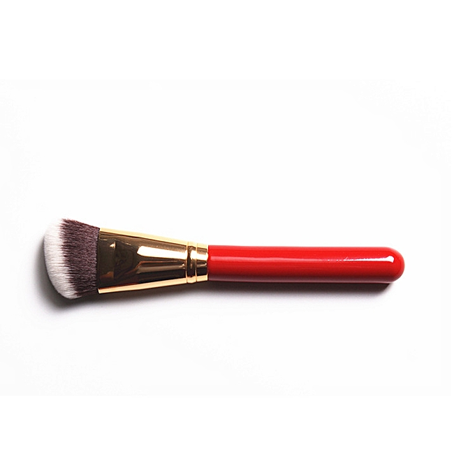 High-grade cosmetic brushes China red handle bright rose golden mouth tube  6 face brushes