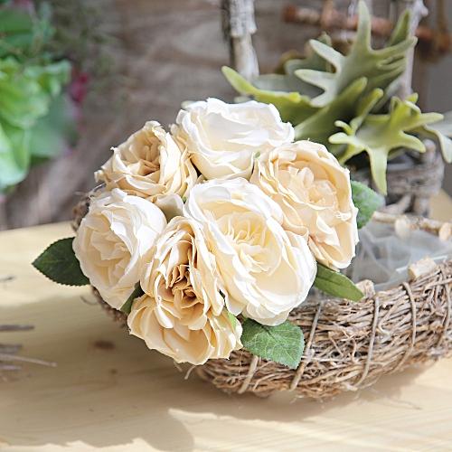 Muyi Artificial Silk Fake Flowers Roses Floral Wedding Bouquet