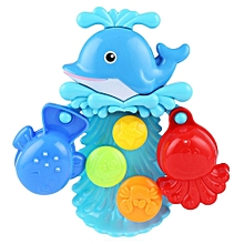 Children Dolphin Squirt Water Bath Buttressed Spray Shower Toy Set