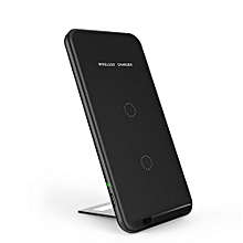 Portable Ultra-thin Qi Wireless Charger  Universal Phone Charge Base Pad Charging Stand Holder Built-in Dual Coils for Samsung Galaxy S8/S8+/S7/S7 Edge/S6 Edge+/Note 5/Note 7/Note 8 or for iPhone X/8/8 Plus and Other Qi-enabled Smartphones