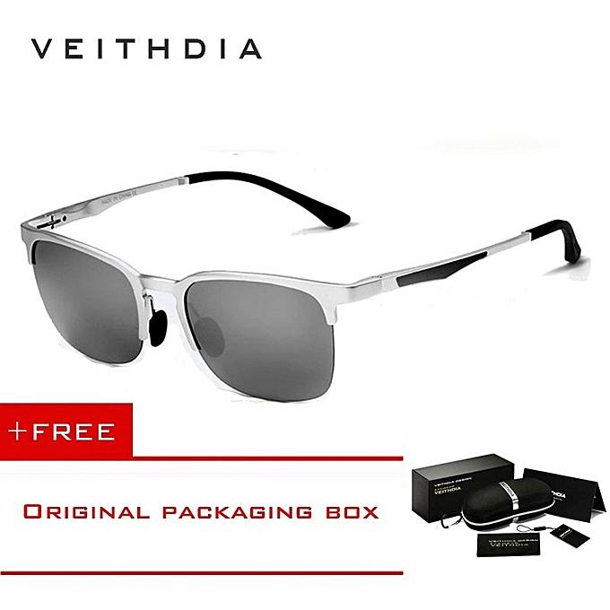 be8725f71b VEITHDIA Unisex Retro Aluminum Magnesium Sunglasses Polarized Eyewear  Accessories Sun Glasses Men Women 6631 XBQ ...