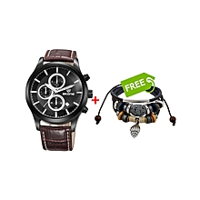 Hyper Complex Chronograph Watch Brown - Free Bracelet