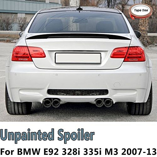 For 07 13 Bmw E92 Coupe 328i 335i M3 Performance High Kick Trunk Spoiler Wing