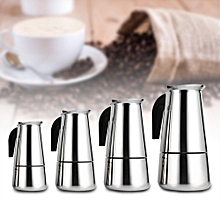 Stainless Steel Percolator Moka Pot Espresso Coffee Maker Stove Home Office Use (300ml)