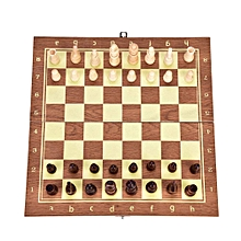 3-in-1 Chess Set, Wooden Chess Set Chess & Checkers & Backgammon, Portable Travel Set Folding Board Tabletop Game Toy