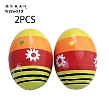 UJ Orff World A Pair/SET Children Kids Wooden Colorful Sand Eggs Instruments-multi-color Mixed