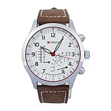 Fohting Fashion Hottest Mens Cool Army SPORT Leather Quartz Analog Wrist Watch -