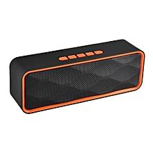 SC-211 Bluetooth Speaker Wireless Mini Portable Handsfree USB TF Card FM Radio Stereo Sound Double Speaker Subwoofer Music Player(Orange)